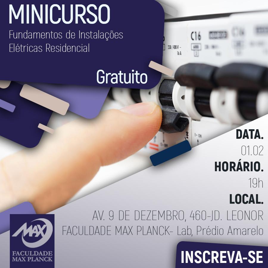 Minicurso Fundamentos de Instalações Elétricas Residêncial(fb)